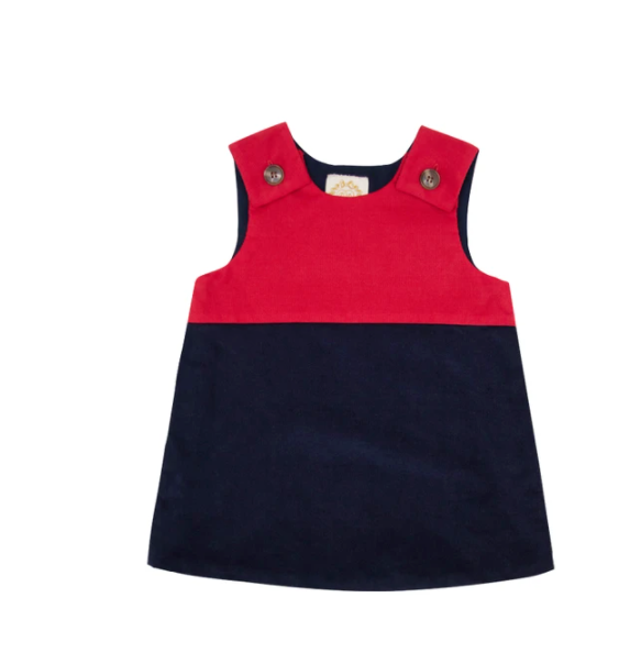 Katie Anne Colorblock Corduroy Jumper | Richmond Red/Nantucket Navy