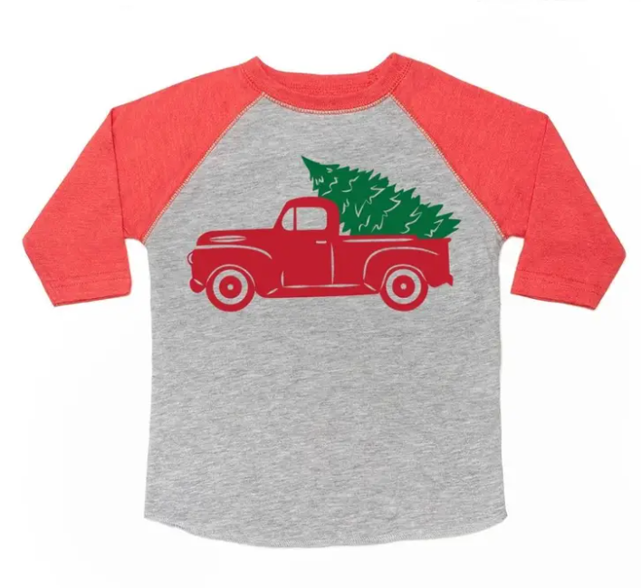 Christmas Truck Long Sleeve Shirt