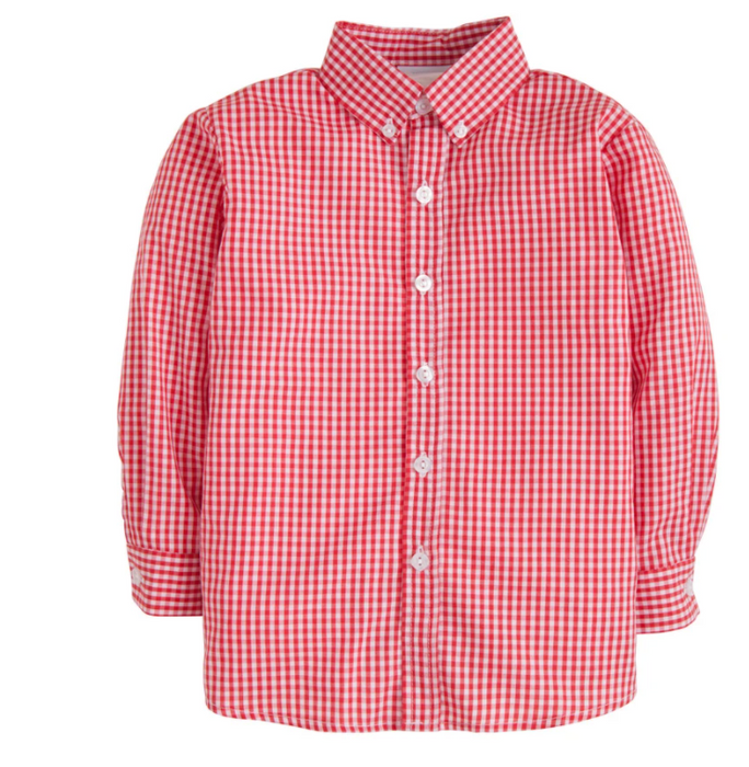 Button Down Shirt | Red Gingham
