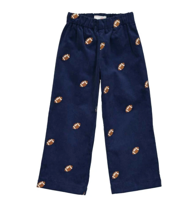 Myles Slim Pant with Football Embroidery