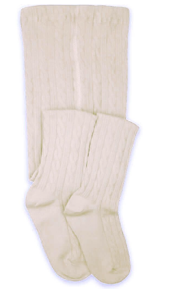 Jefferies Socks Classic Cable Ivory Tights 1 Pair (1560)