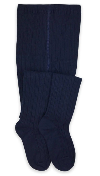 Jefferies Socks Classic Cable Navy Tights 1 Pair (1560)