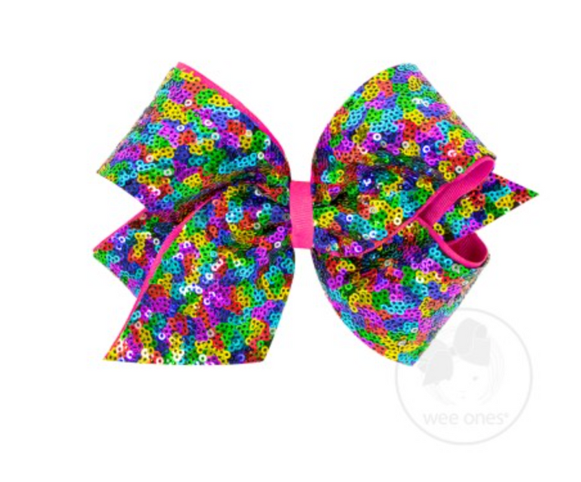 King Sequin Overlay Bow