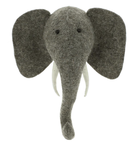 Mini Elephant Head with Tusks