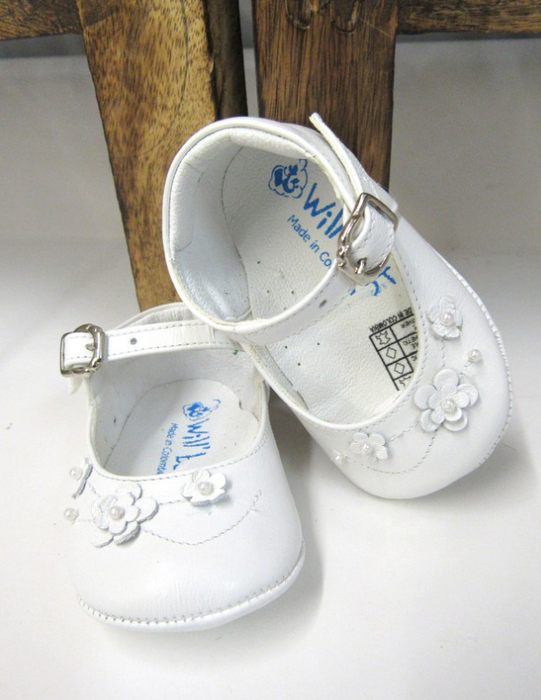 Soft Leather Baby Shoe with Flowers | 63179