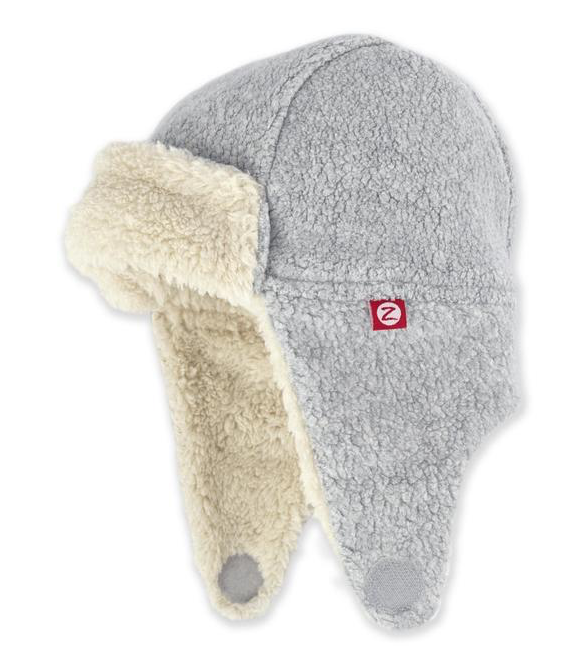 Furry Fleece Trapper Hat | Gray