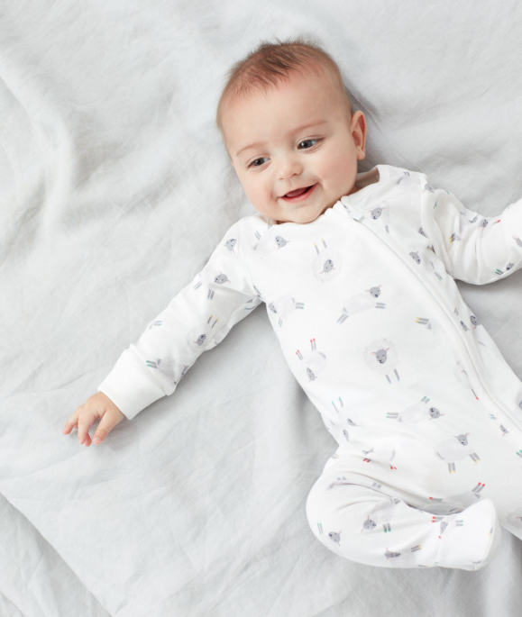 White Sheep Sleepsuit