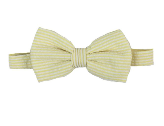 Baylor Bow Tie |Seersucker| Seaside Sunny Yellow