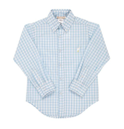 Deans List Dress Shirt | Buckhead Blue Large Gingham