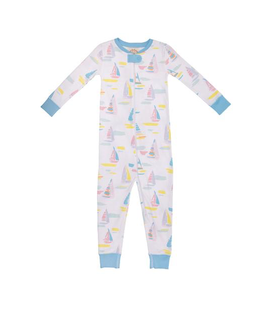 Knox's Night Night Footed | Sandyport Sailboat | Brookline Blue