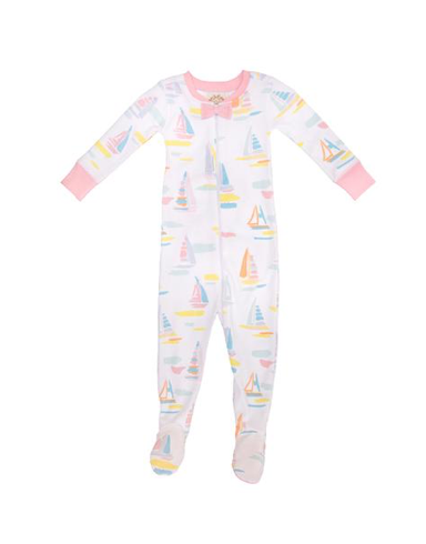 Noelle's Night Night Footed | Sandyport Sailboat | Sandpearl Pink