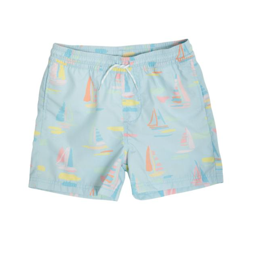 Tortolo Swim Trunks | Sandyport Sailboats Blue