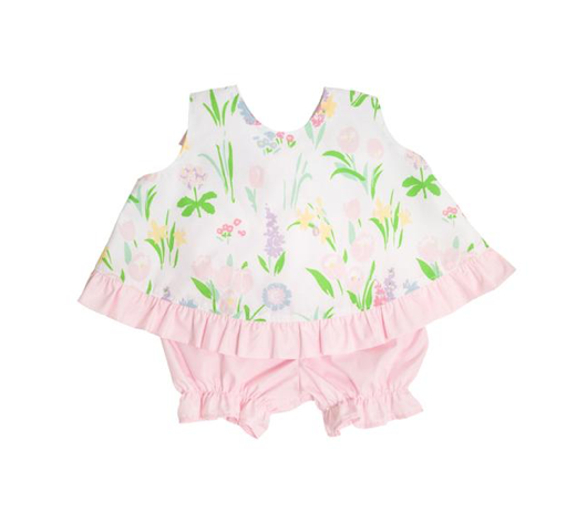 Susy Swing Top | Belvedere Blooms/ Palm Beach Pink