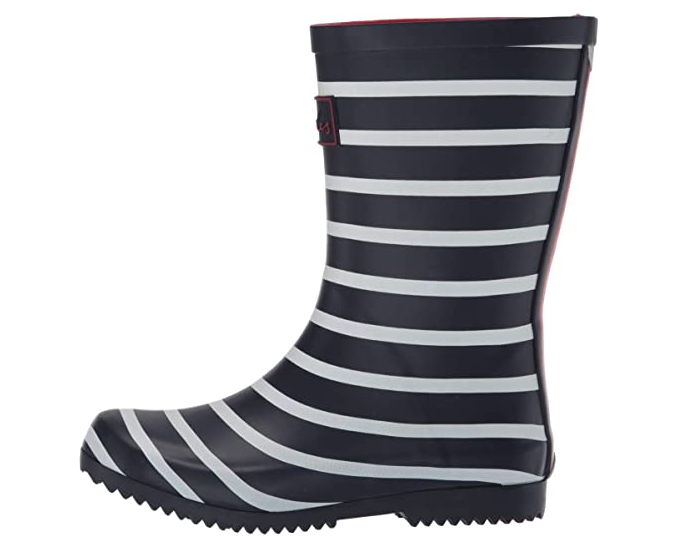 Roll Up Rain Boot | Navy Stripe