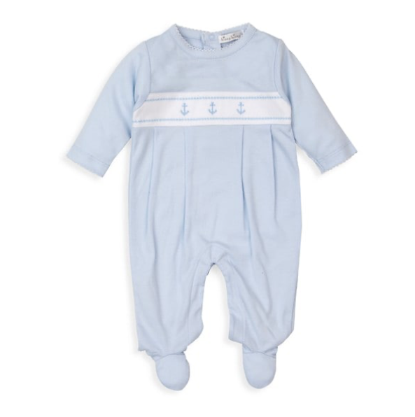 Classic Treasures Footie | Light Blue Anchor