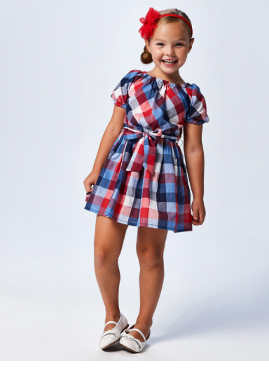 Plaid Dress | Red White and Blue | 3948