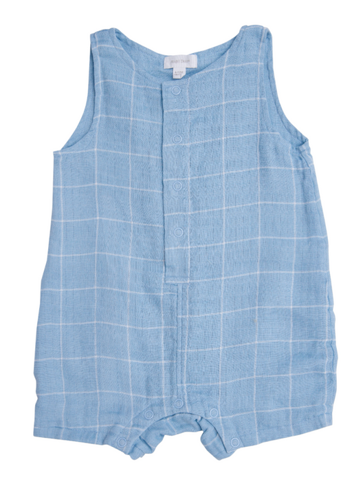 Off the Grid Blue Shortie Romper