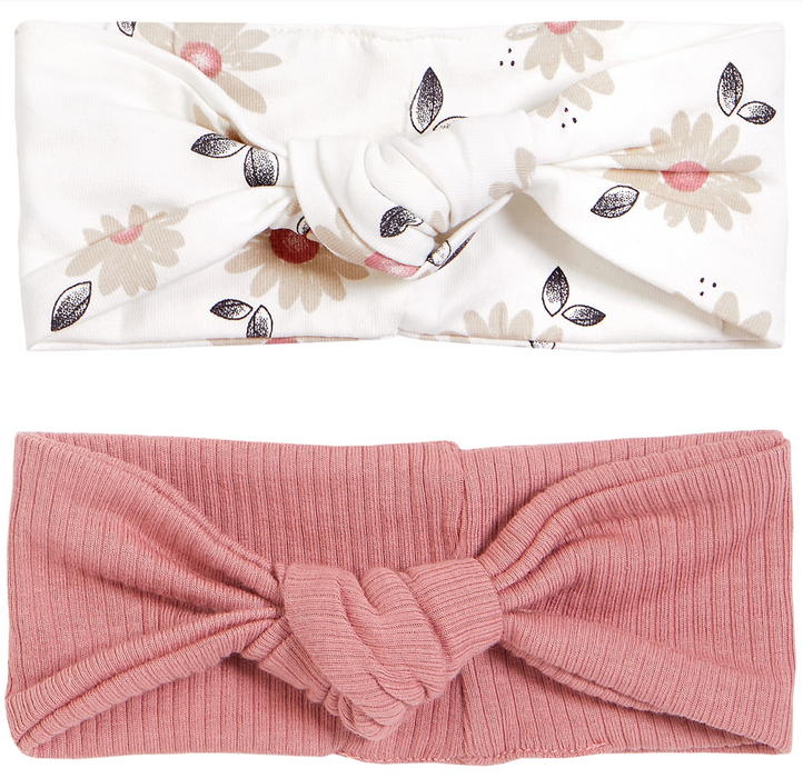 Pink and Floral Headband Set