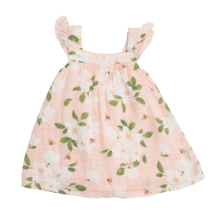 Pink Magnolia Sundress and Bloomer Set