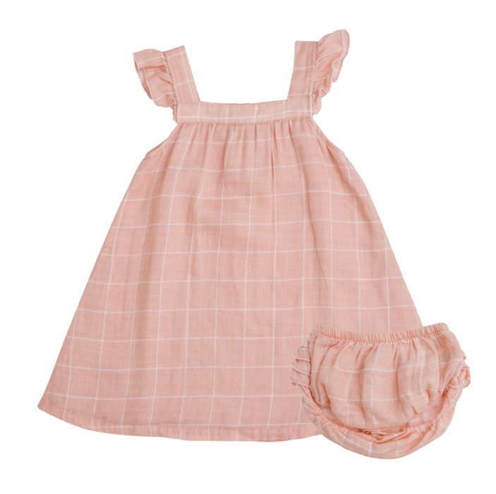 Dusty Pink Off the Grid Sundress and Bloomer Set