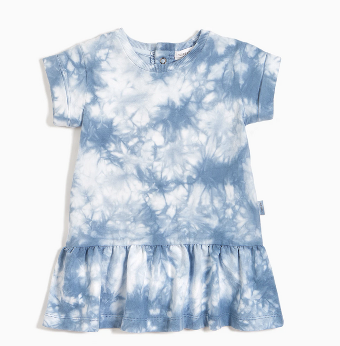 Blue Grey Tie Dye Dress