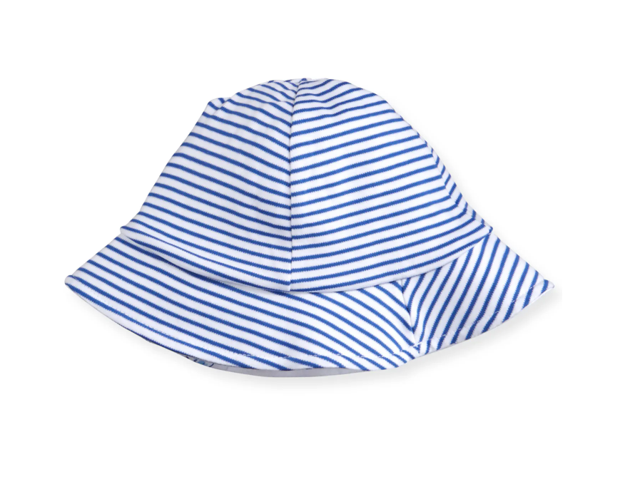 Breaching Whales Reversible Blue Sunhat
