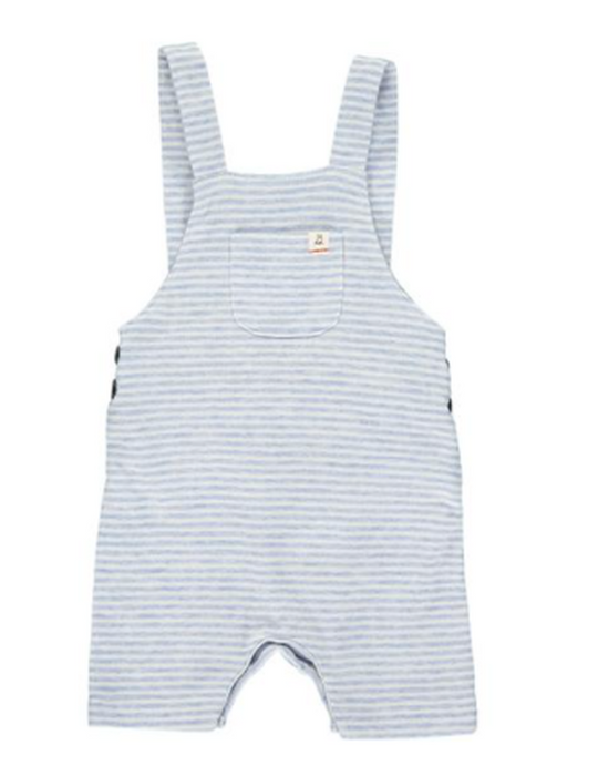 Blue & White Shortie Overalls