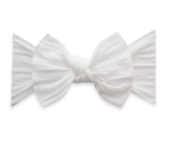 Cable Knit Knot Bow
