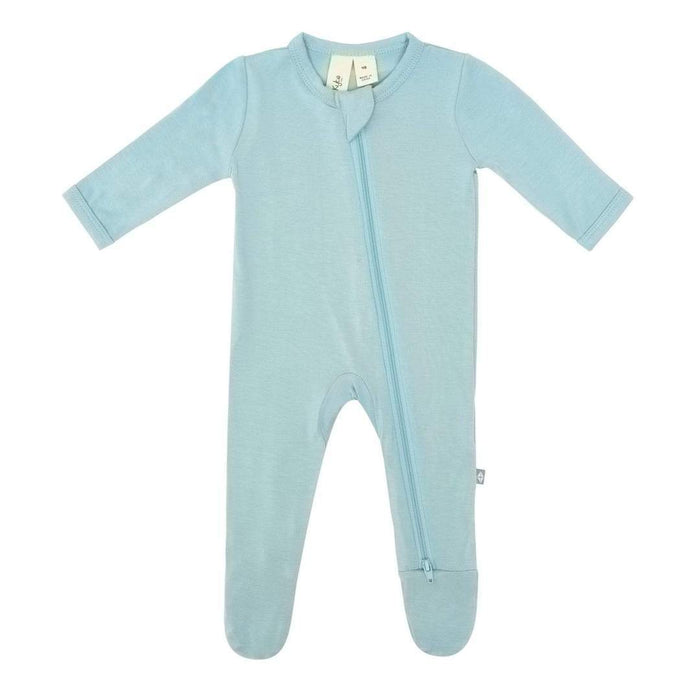 Kyte Zippered Footie | Seafoam
