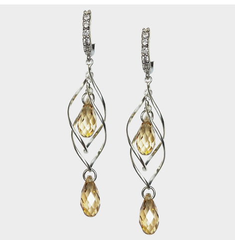 Twizzle Double Drop Earrings