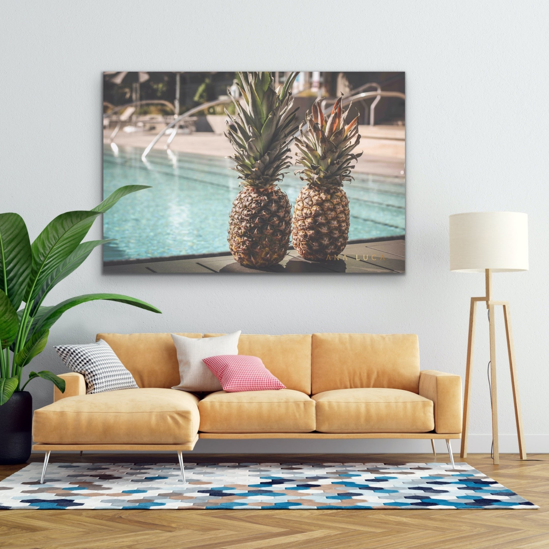 Pineapples At The Pool by Ana Luca