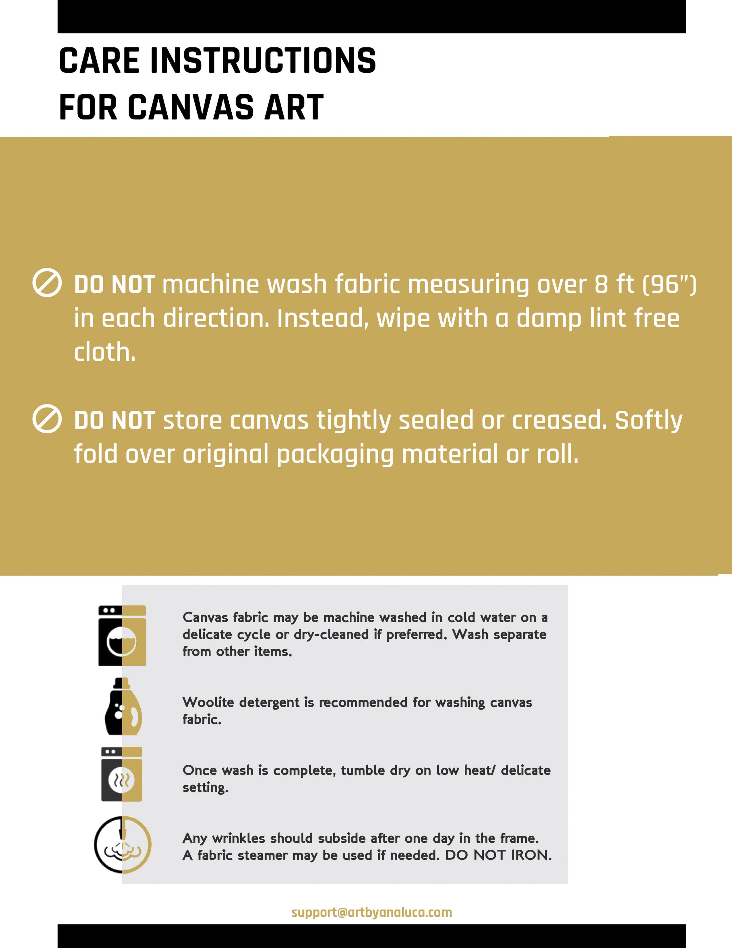 Canvas Assembly Instructions Art by Ana Luca