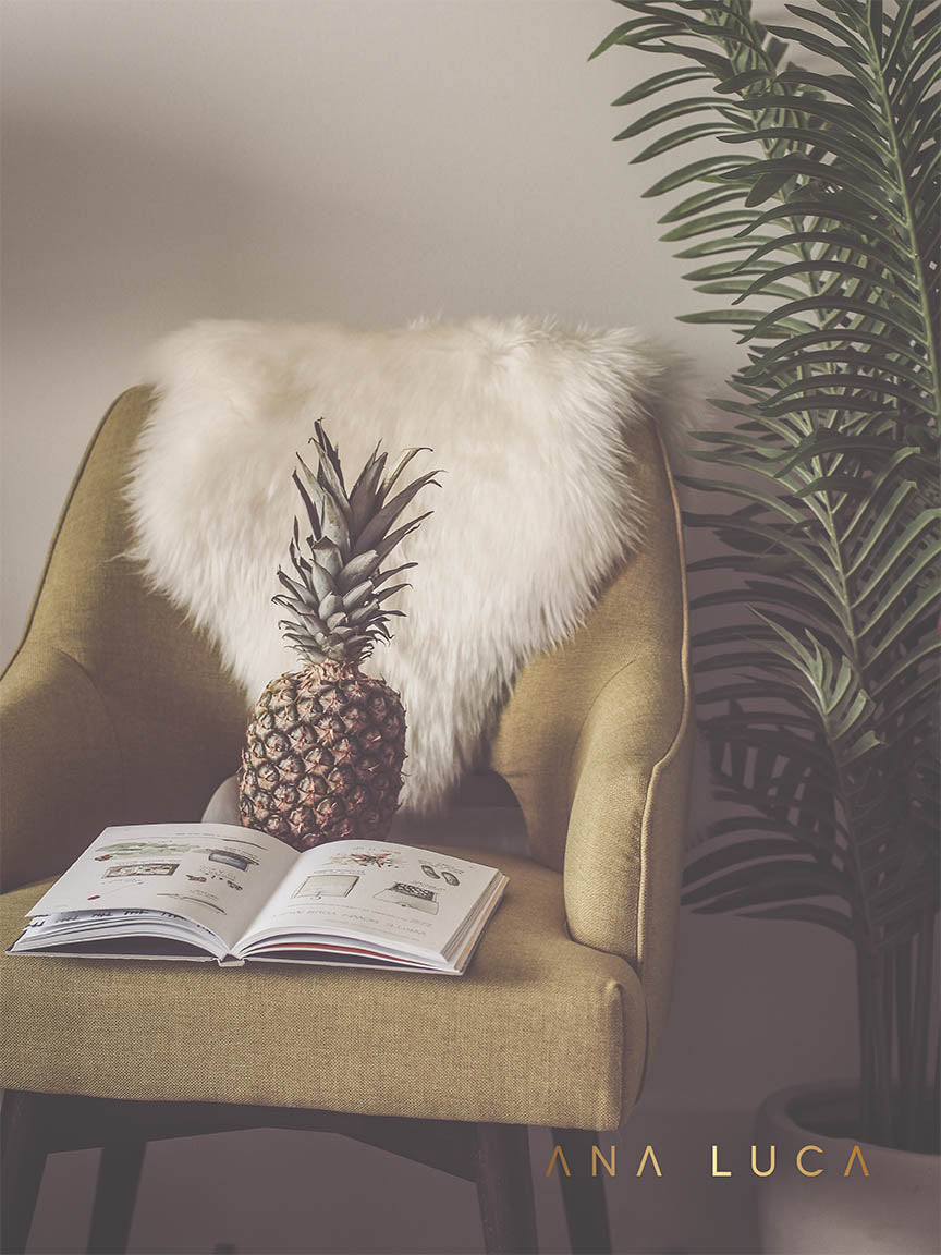 Pineapple Reading Art by Ana Luca