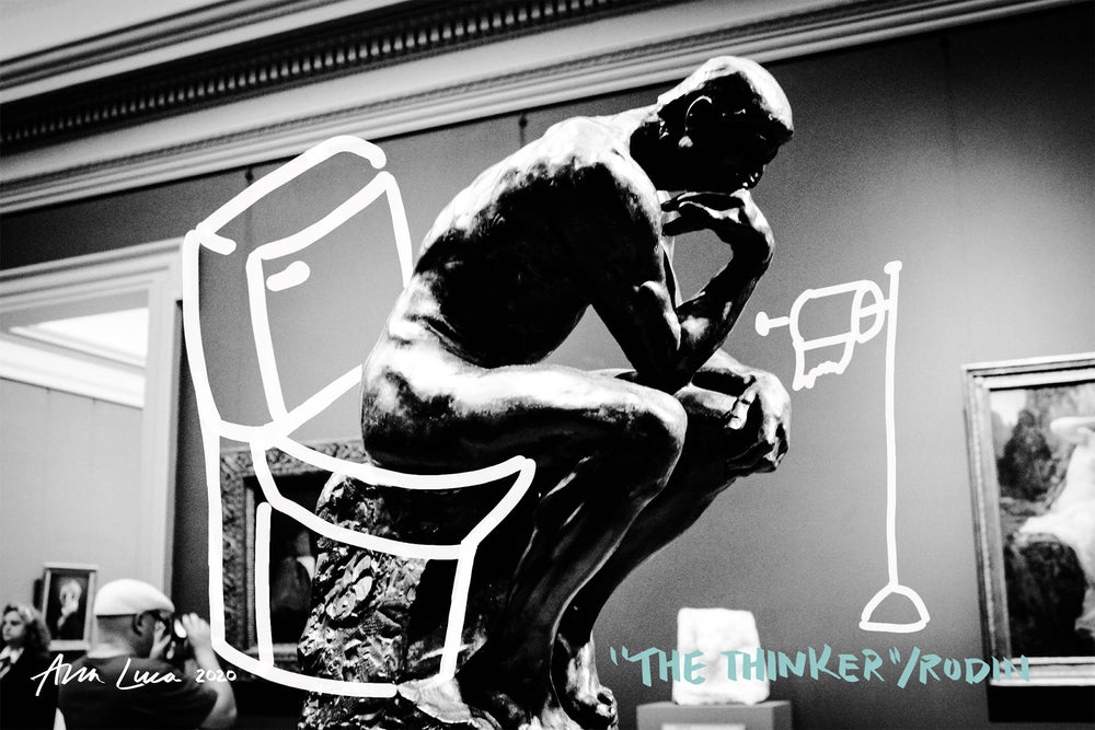 The Thinker Art by Ana Luca