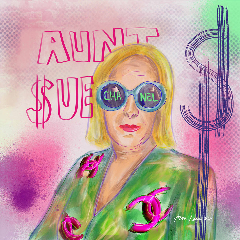 Aunt Sue Art by Ana Luca