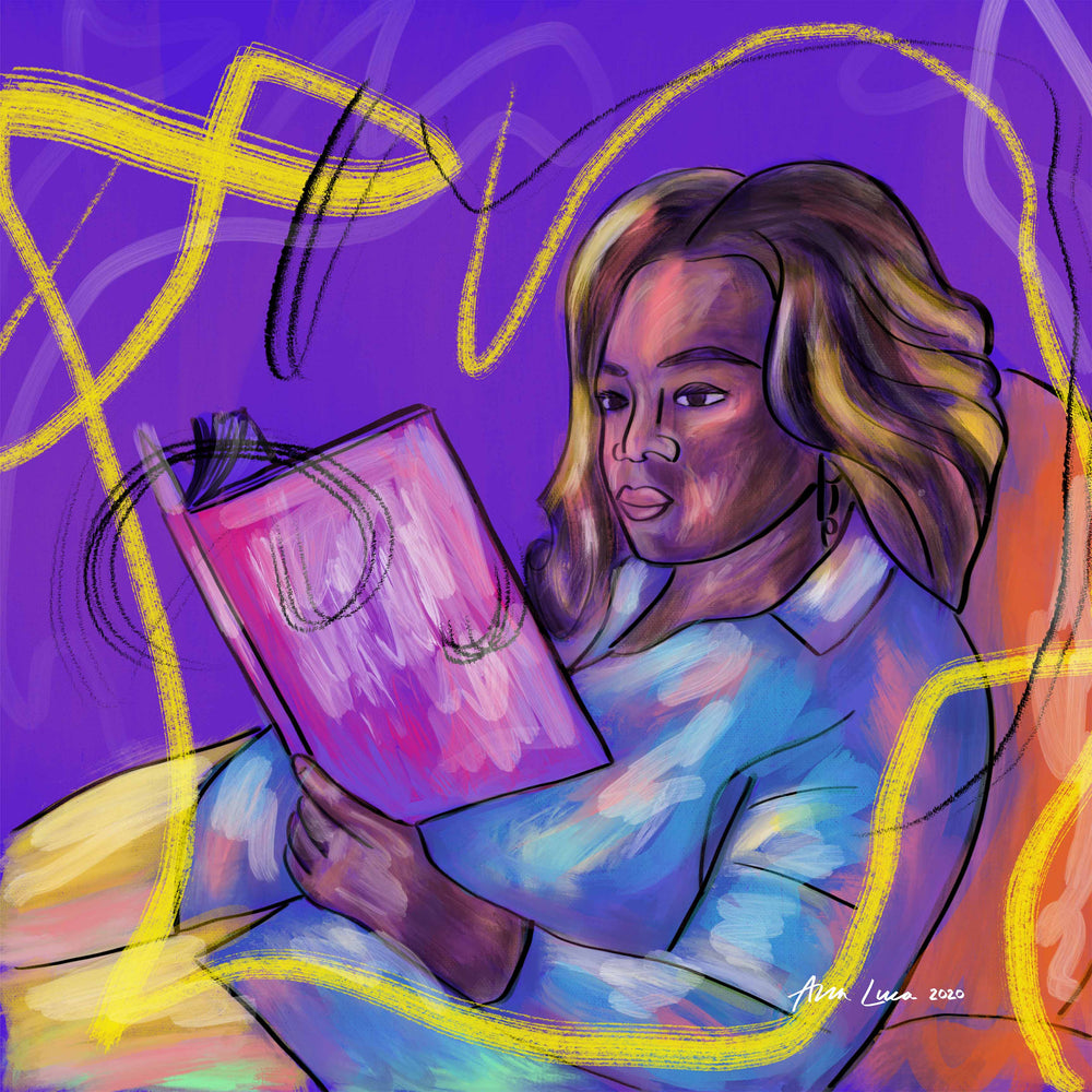 Read With Me (Oprah Winfrey) Art by Ana Luca