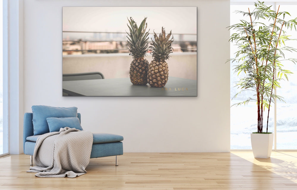 Pineapples Kissing Art by Ana Luca