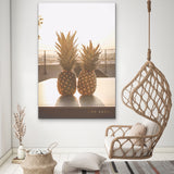 Pineapples Watching Sunset Art by Ana Luca