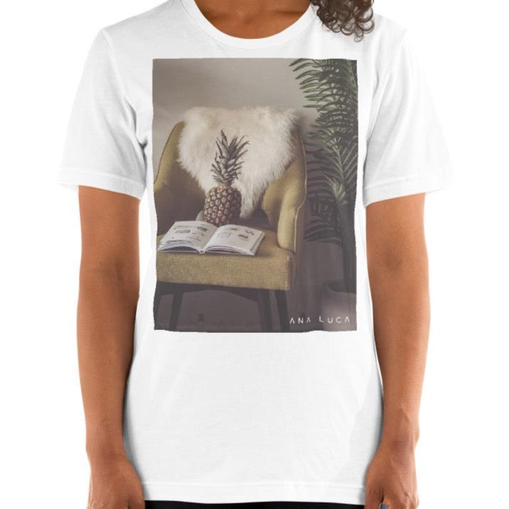 Pineapple Reading Unisex Premium T-Shirt