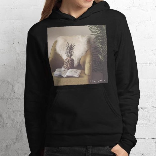 Pineapple Reading Unisex Premium Hoodie