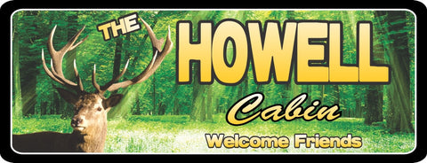 Stag Head Cabin Sign for Deer Hunters