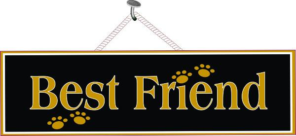 Black Pet Sign with Gold Paw Prints
