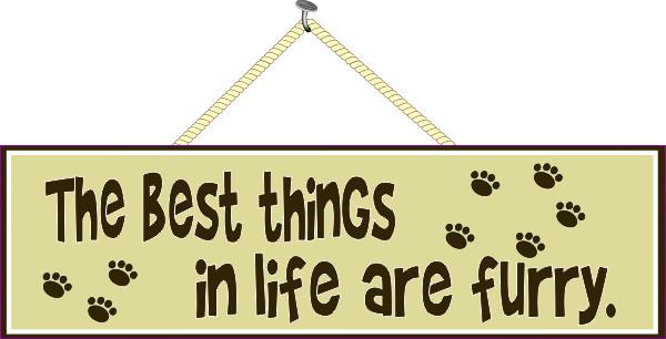 Pet Quote Sign with Paw Prints