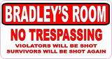 Red & White No Trespassing Sign