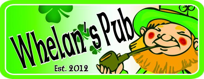 Custom Irish pub Sign with Leprechaun, Pipe & Shamrocks