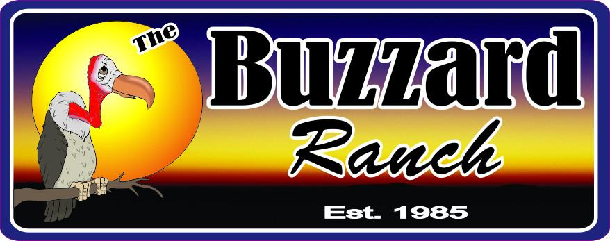 Buzzard Ranch Personalized Sign with Established Date & Sunset