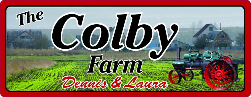 Personalized Case Tractor Sign with Field & Farm House