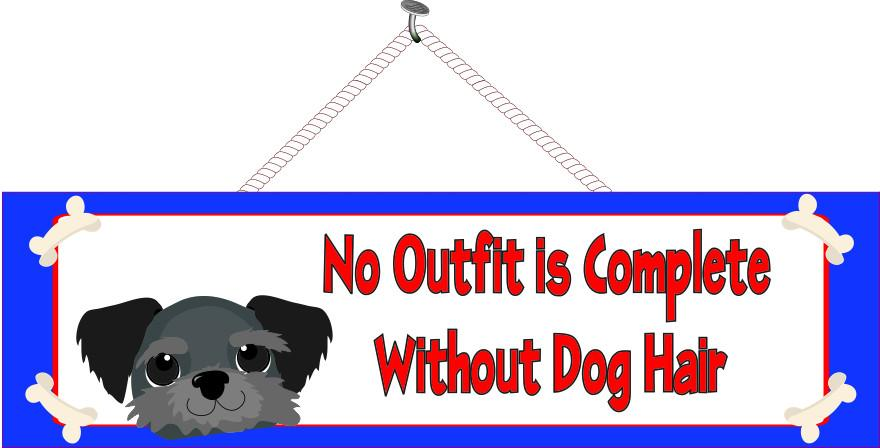 Funny Dog Quote Sign with Blue Border