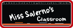 Custom Name School Sign with Chalkboard Background
