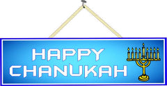 Happy Chanukah Sign in Blue